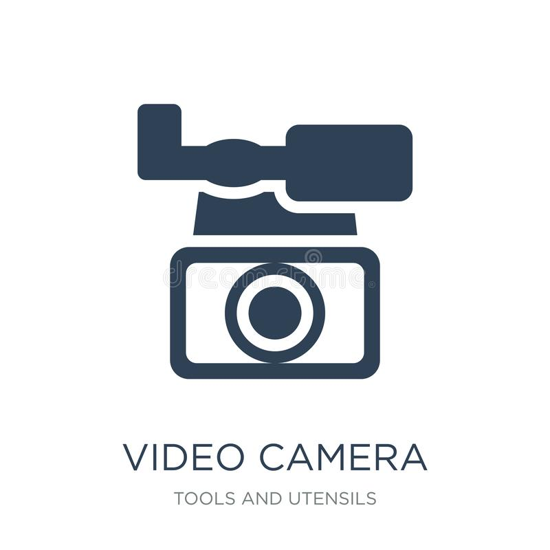 video camera from frontal view icon in trendy design style. video camera from frontal view icon isolated on white background. vector illustration