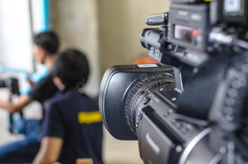 Video Camera has focus royalty free stock photos