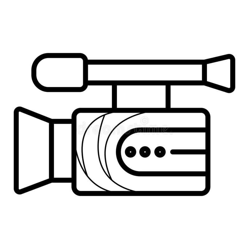 Video camera icon stock illustration