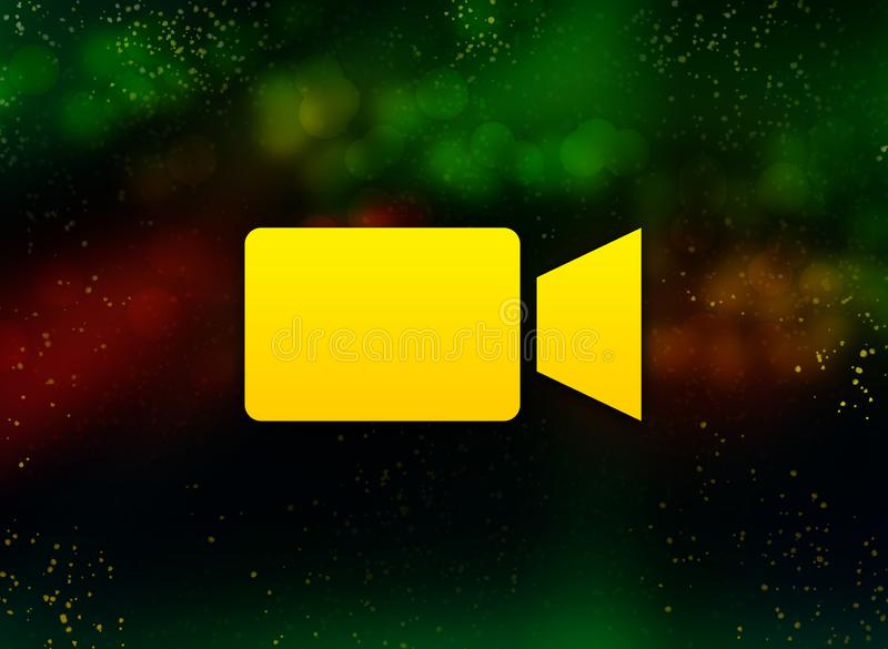 Video camera icon abstract bokeh dark background vector illustration