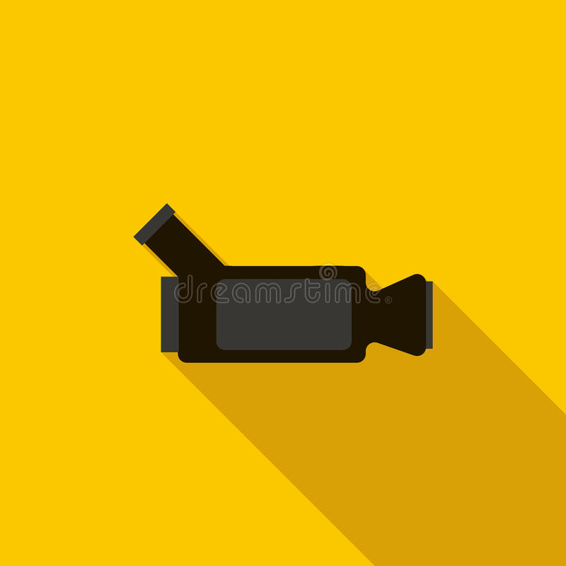 Video camera icon, flat style stock illustration