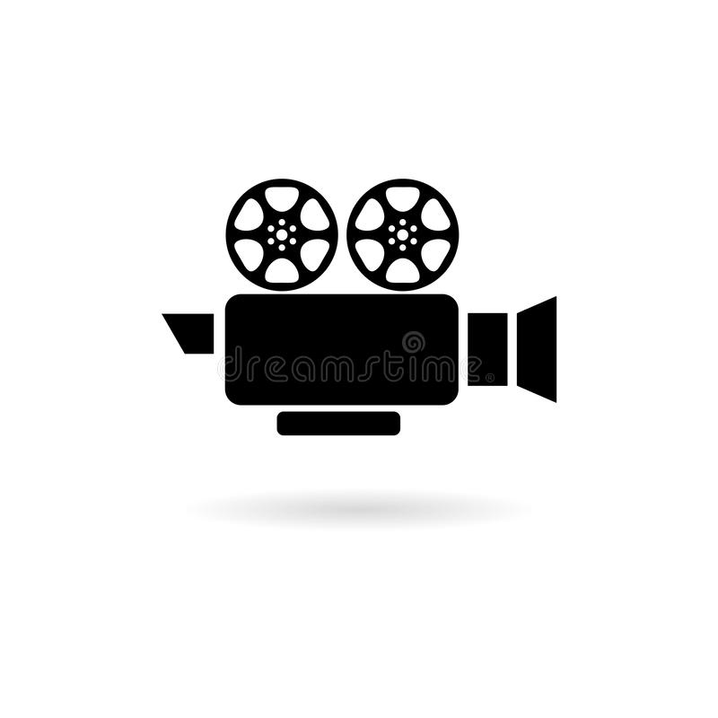 Video camera icon isolated on white background. Video camera icon in trendy design style royalty free illustration