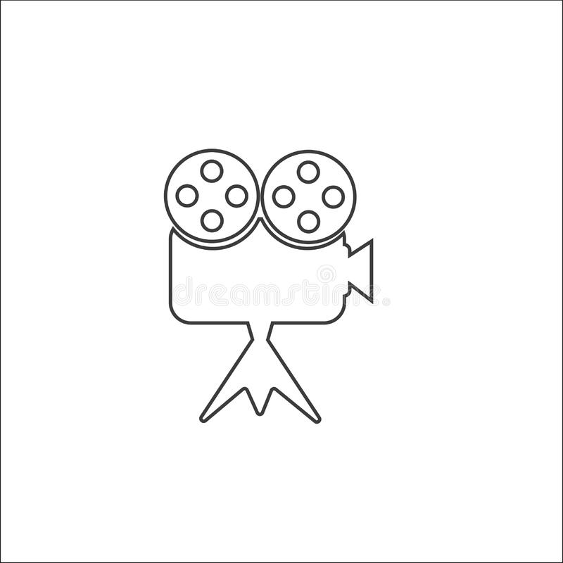 Video camera icon, Movie, film, picture sign. royalty free illustration