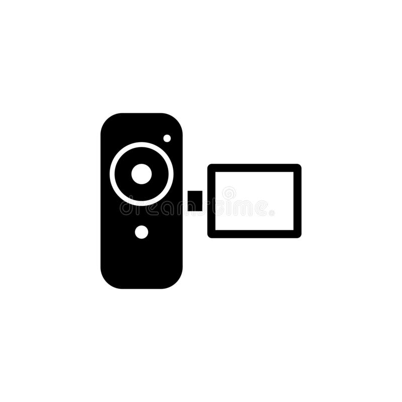 Video camera icon. Simple glyph vector of universal set icons for UI and UX, website or mobile application. On white background vector illustration