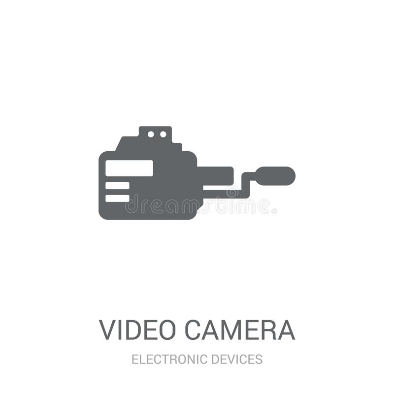 Video camera icon. Trendy Video camera logo concept on white background from Electronic Devices collection vector illustration