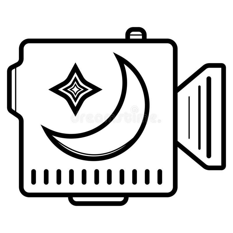 Video camera icon vector royalty free illustration