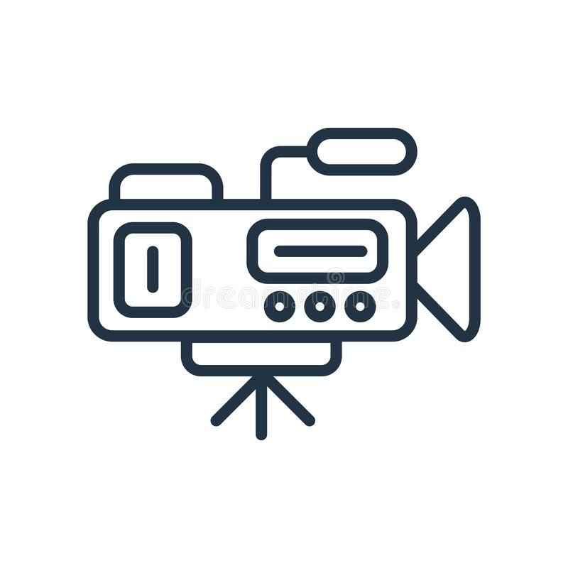 Video camera icon vector isolated on white background, Video camera sign royalty free illustration
