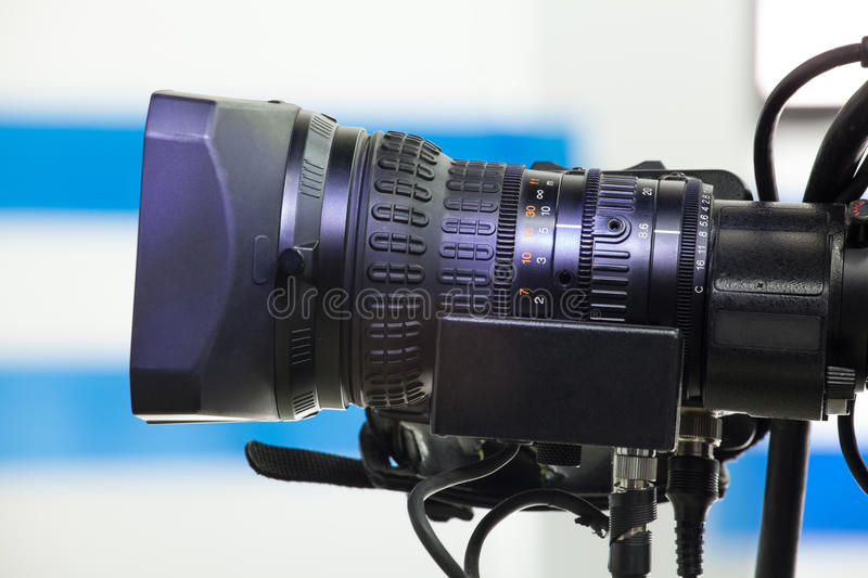 Video camera lens royalty free stock photography