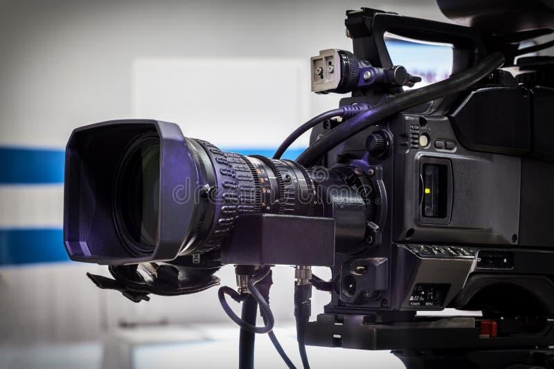 Video camera lens royalty free stock image