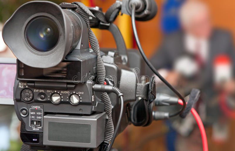 Video Camera Recorded A Man Stock Image
