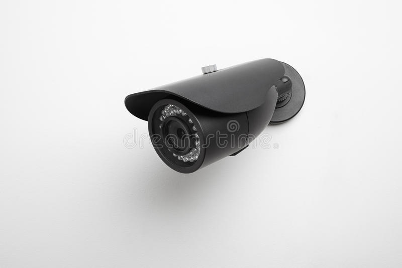 Video camera security systems. Outer equipment for the protection of stock photo