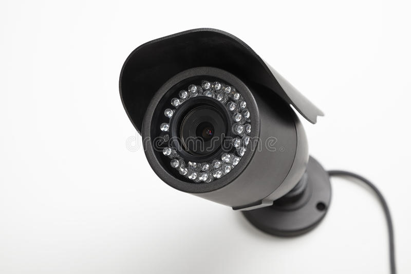 Video camera security systems. Outer equipment for the protection of stock photos