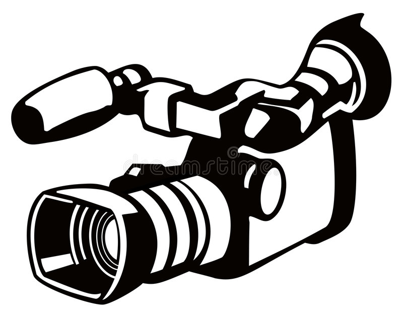 Video camera stencil style stock illustration
