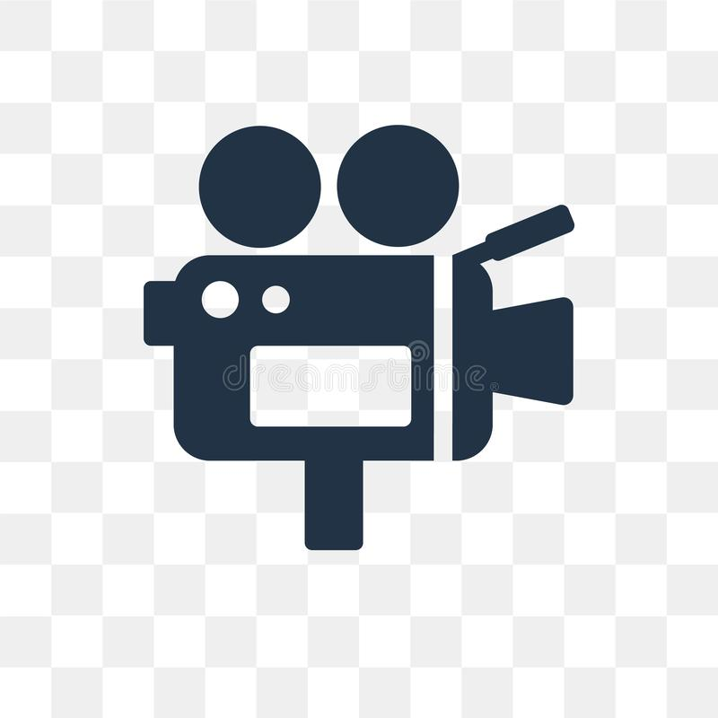 Video camera vector icon isolated on transparent background, Video camera transparency concept can be used web and mobile royalty free illustration