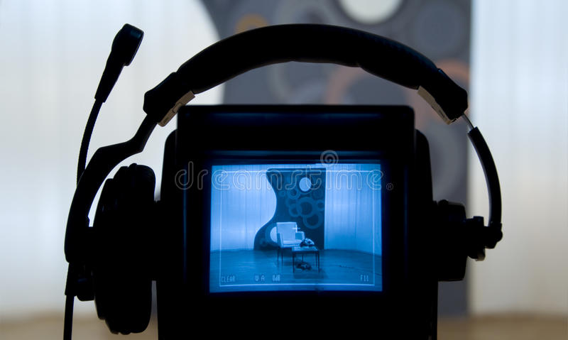 Video camera viewfinder stock images