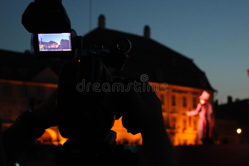 Download Video Camera Viewfinder In The Night Stock Photo - Image: 31514212