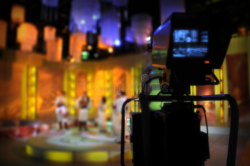Video camera viewfinder - TV show royalty free stock photo