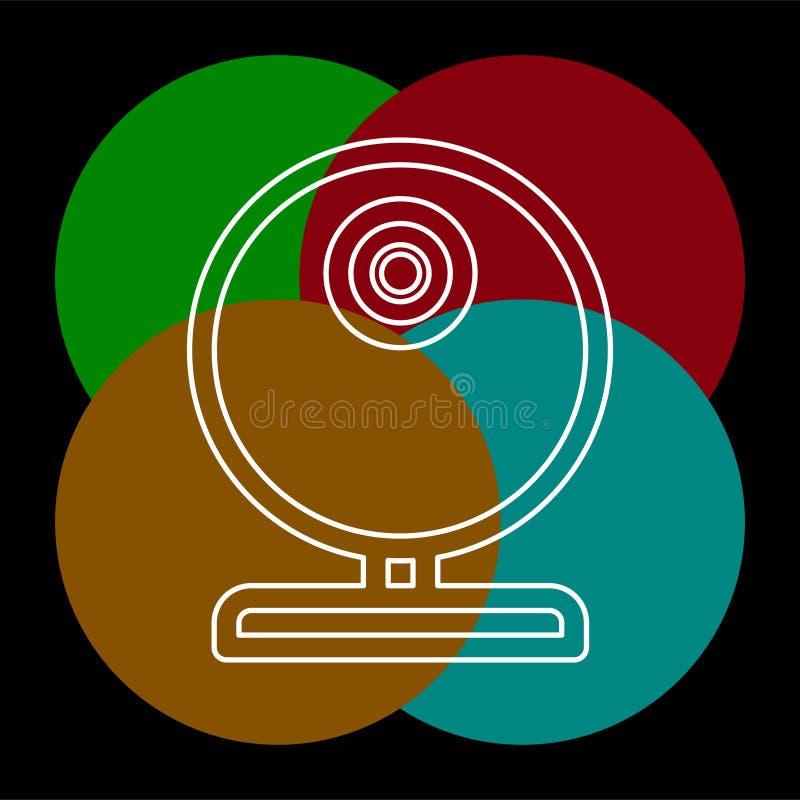 Video camma di web - icona della macchina fotografica di chiacchierata, webcam di vettore royalty illustrazione gratis
