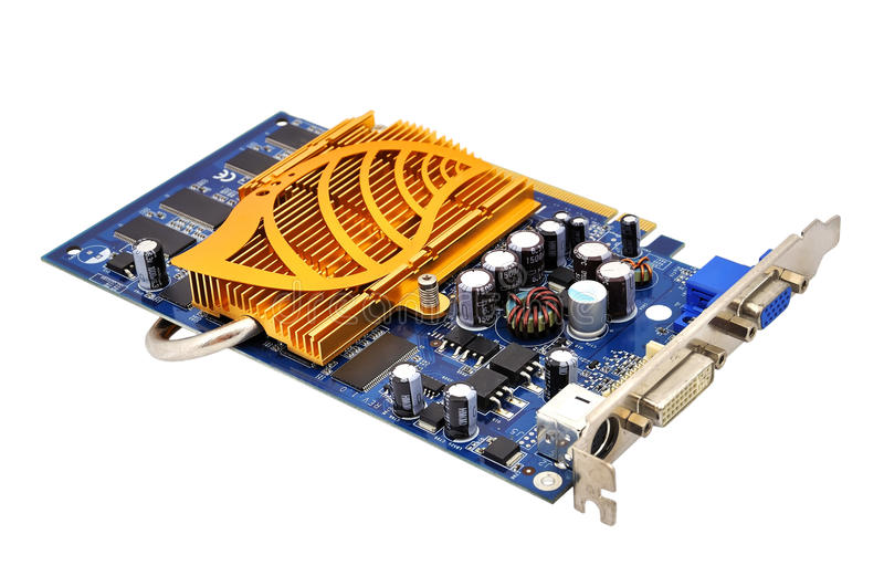 Video card. On a white background royalty free stock photo