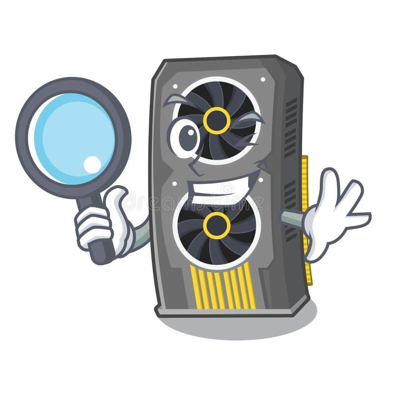 Video carta grafica dell'agente investigativo isolata con il fumetto illustrazione vettoriale