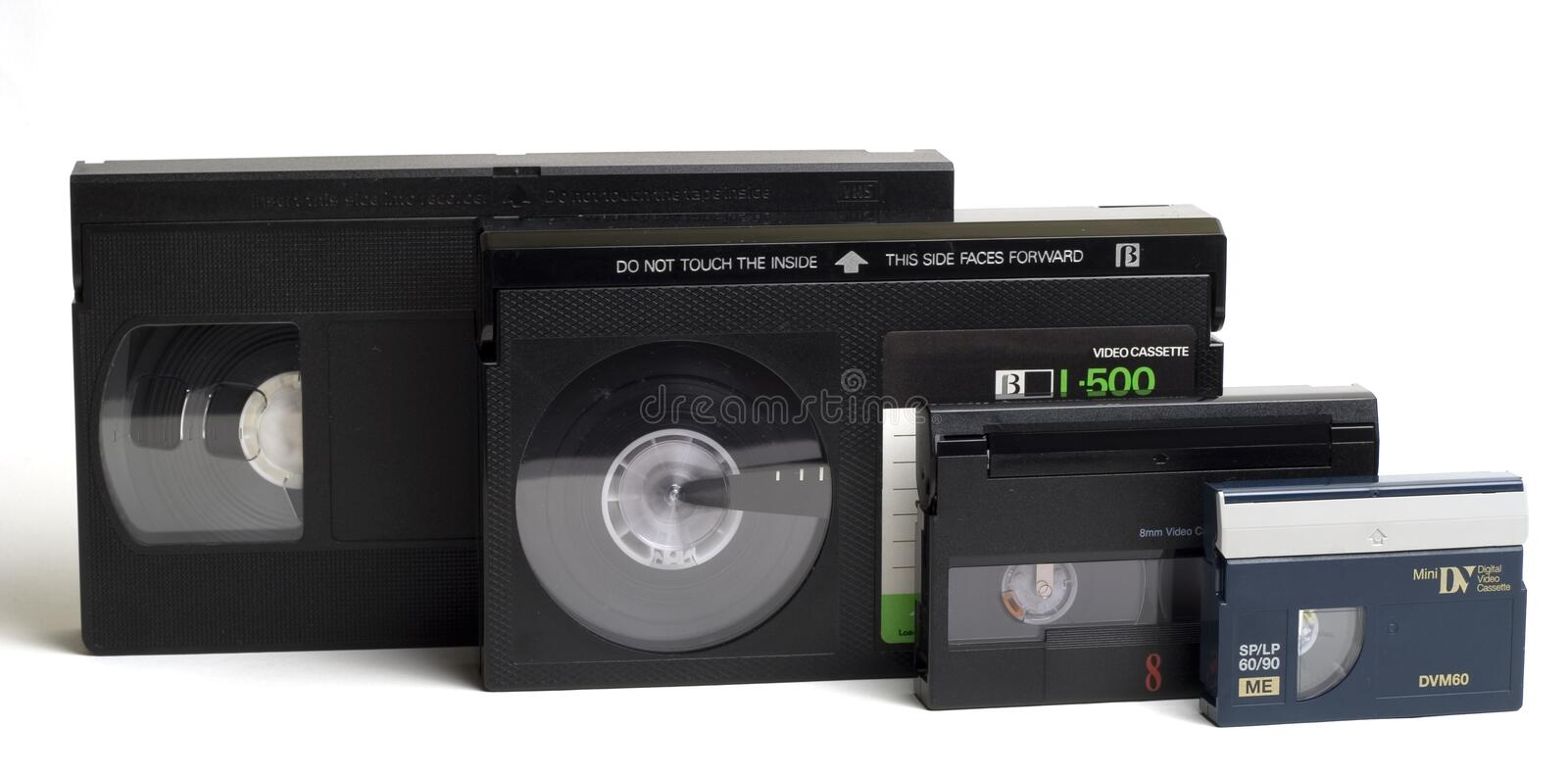 Download Video Cassettes stock image. Image of digital, sorted, betamax - 308367