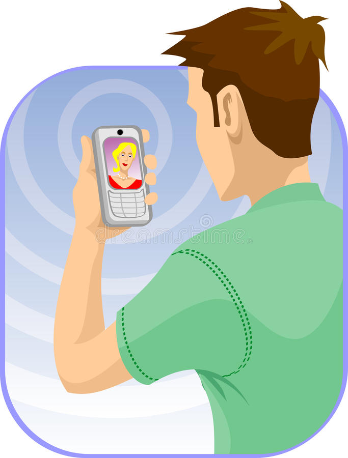 Download Video chat stock illustration. Image of global, looking - 16320620