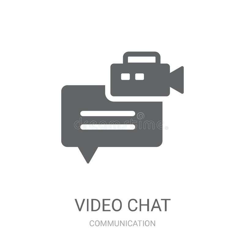 Video chat icon. Trendy Video chat logo concept on white background from Communication collection stock illustration