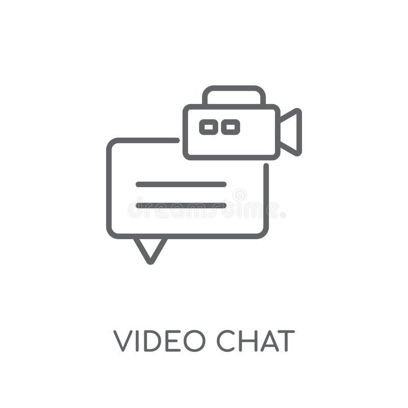 Video chat linear icon. Modern outline Video chat logo concept o royalty free illustration