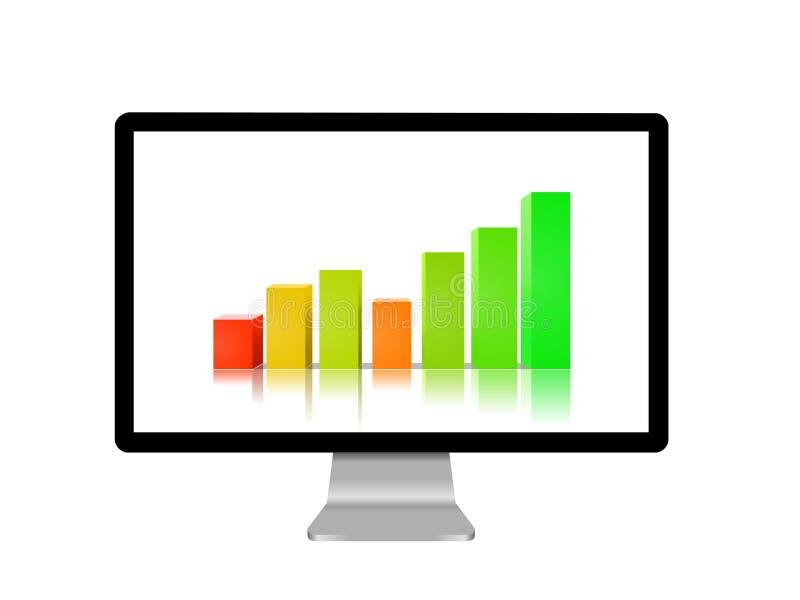 Video con il grafico illustrazione di stock