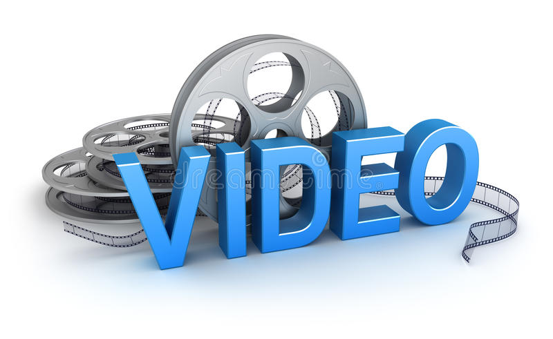Video. Concept icon royalty free illustration