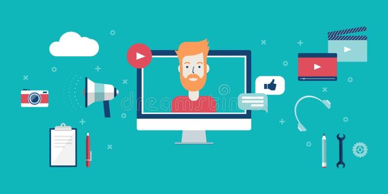 Video concetto di blogging immagine stock libera da diritti
