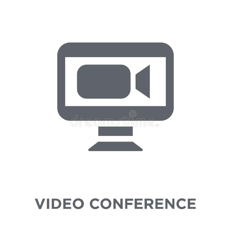 Video conference icon from Human resources collection. stock illustration