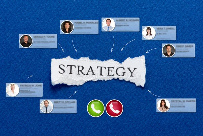 Strategy virtual meeting stock images
