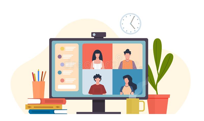 Video Conferencing Stock Illustrations – 2,444 Video Conferencing Stock  Illustrations, Vectors & Clipart - Dreamstime