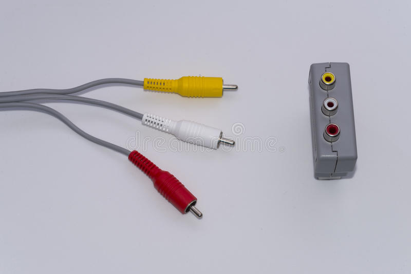 Video connectors. royalty free stock photo