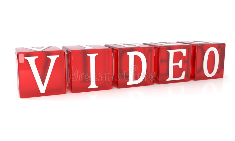 Video Cube text on white background royalty free illustration