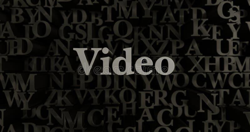Video - 3D teruggegeven metaal gezette krantekopillustratie stock illustratie