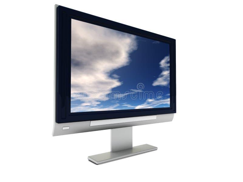 Monitor del computer fotografia stock libera da diritti