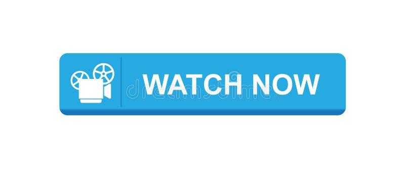 Video dell'orologio ora illustrazione di stock