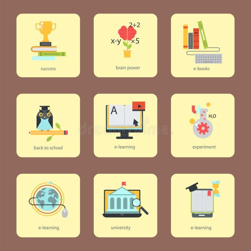 Video deposito d'apprendimento distante di formazione del personale di esercitazioni di istruzione online piana di progettazione  illustrazione vettoriale
