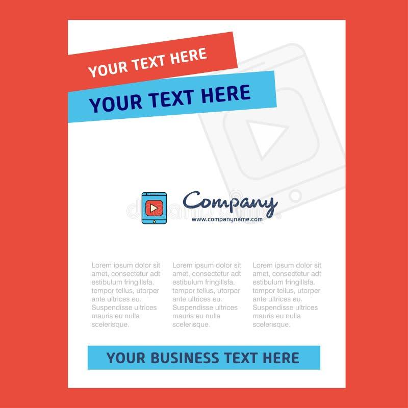 Video design för titelsida för företagsprofilen, årsrapport, presentationer, broschyr, broschyrvektorbakgrund stock illustrationer