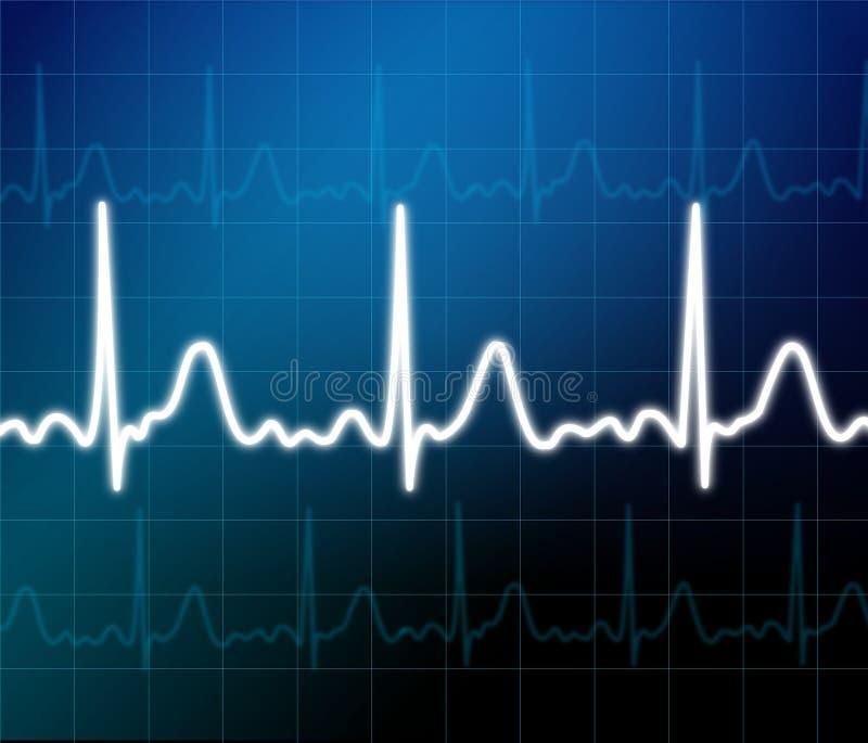 Video di cuore illustrazione di stock