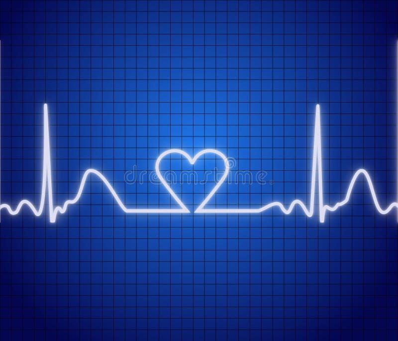 Video di cuore illustrazione vettoriale