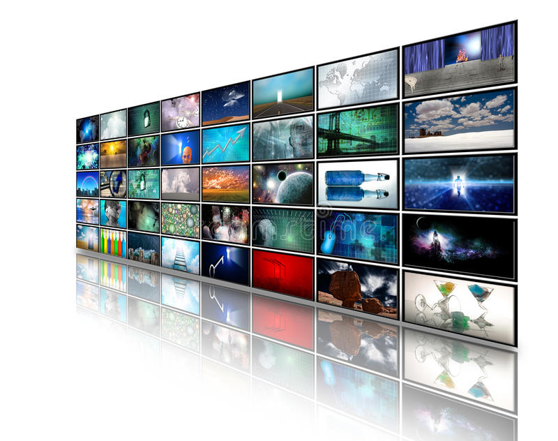 Download Video displays stock illustration. Image of panels, display - 14428789