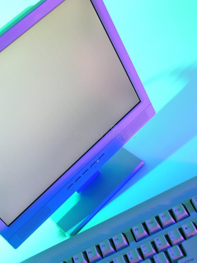 Video e tastiera del calcolatore fotografie stock libere da diritti