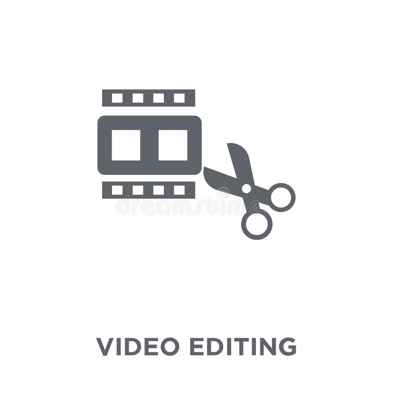 Video editing icon from Entertainment collection. royalty free illustration