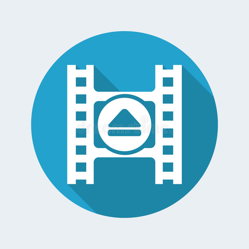 Video eject icon. Vector illustration of single isolated video eject icon stock illustration