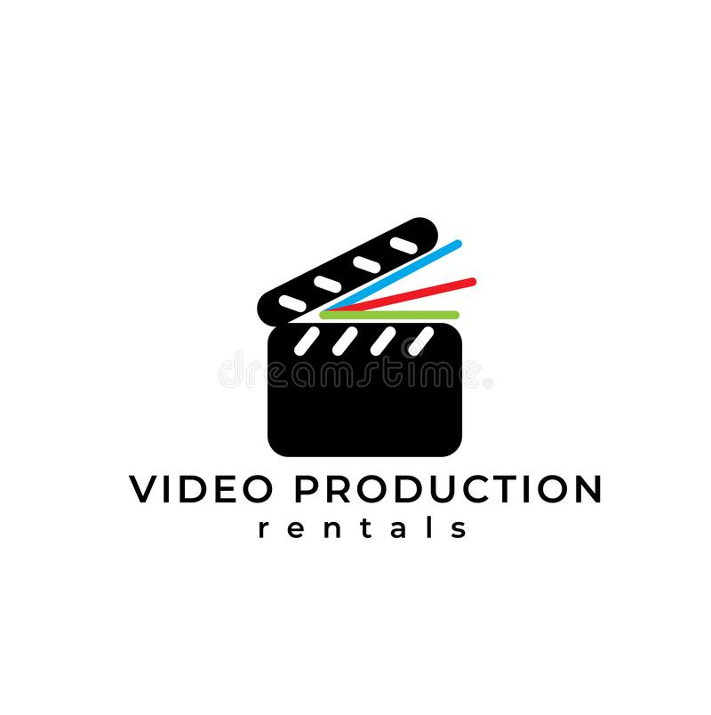 Video equipment vector logo. Video equipment rentals logo. Film shooting emblem. Video equipment vector logo. Video equipment rentals logo. Film shooting emblem royalty free illustration