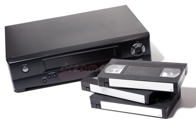 video för kassettregistreringsapparat arkivbild