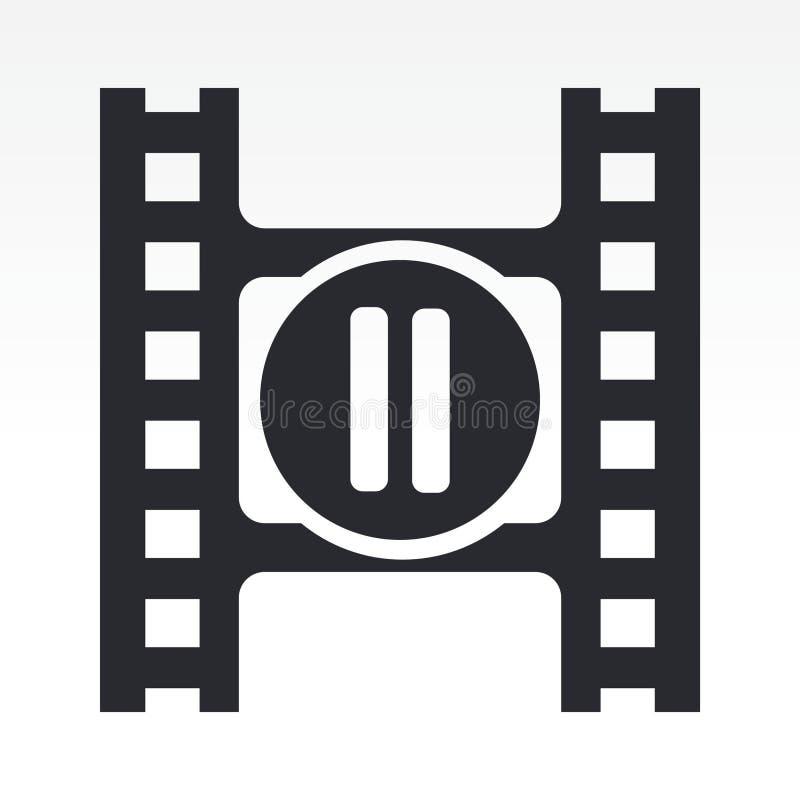 video för knapppausspelare vektor illustrationer